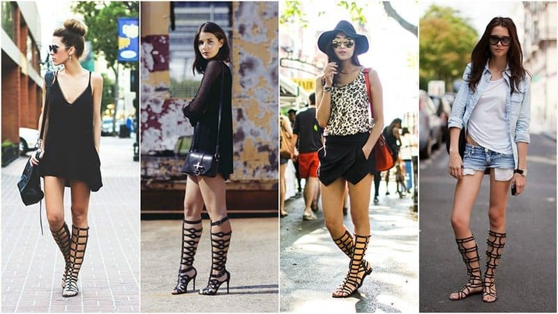 gladiator leather sandals - Leather Sandals