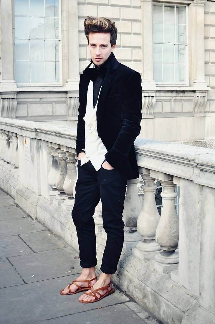 sandals with trousers - Sandals For Men